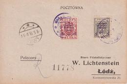POLOGNE 1919 LETTRE DE LODZ - Covers & Documents