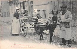 CPA - Types Toulousains - Marchande De Poisson En Balladeuse - âne - TBE - Toulouse