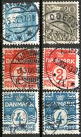 Denmark,lot Of Cancel Stamps,as Scan - Otros