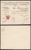 Belgique 1907 - Reçu Frameries - Maison Durfrane Friart - 1905 Thick Beard