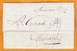 1805 - An 13 - Lettre Pliée Avec Correspondance Imprimée Et Manuscrite De BREST, Postée à PARIS Vers MONACO - 1801-1848: Precursori XIX