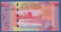 SAMOA - P.38a – 5 TALAND (2008) - UNC Prefix TK - Samoa