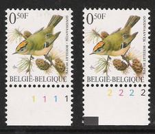 Buzin Nr 2424**   Plaatnr 1 En 2  S2 Witte Gom - 1985-.. Vogels (Buzin)