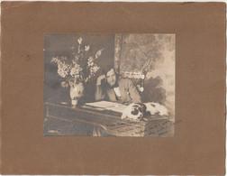 Photo Originale Sur Carton Le Pîaniste Allemand Walter Morse Rummel Et Son Chat Dédicace à Mme Gaudefroy DCD Bordeaux - Antiche (ante 1900)