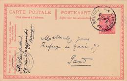 Carte Entier Postal Albert 1er Brugge à Gand - Postcards [1909-34]