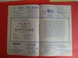 Publicités Locales  Cinema LE REX à TONNEINS Lot Et Garonne - Film 1945 SORTILEGES - Ledoux - Robinson - Pubblicitari