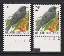 Buzin Nr 2458**   Plaatnr 1 En 2  CPL Witte Gom - 1985-.. Vogels (Buzin)