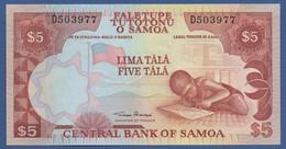 SAMOA - P.33a – 5 TALAND (2002) - UNC Prefix D - Samoa