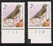 Buzin Nr 2653**   Plaatnr 1 En 2  CPFL - 1985-.. Vogels (Buzin)