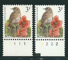 Buzin Nr 2705**   Plaatnr 1 En 2  CPFL - 1985-.. Vogels (Buzin)