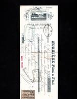 PREIGNAC LES SAUTERNES - Lettre De Change Illustrée 1909 - CLOS DE RESPIDE - HORRIERE Père & Fils - Letras De Cambio