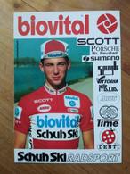 Cyclisme - Carte Publicitaire BIOVITAL SCHUH SKI 1990 : LONTSCHARITSCH - Cycling