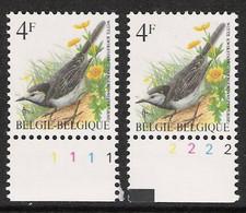 Buzin Nr 2474**   Plaatnr 1 En 2  CPL Witte Gom - 1985-.. Vogels (Buzin)