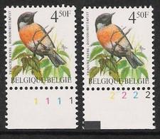Buzin Nr 2397**   Plaatnr 1 En 2  H2 Groene Gom - 1985-.. Vogels (Buzin)