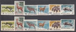 Bulgaria 1958 - Forest Animals, Mi-Nr. 1058/63A+B, MNH** - Nuevos