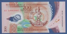VANUATU - P.12 – 200 VATU  2014 - UNC Prefix AA - Vanuatu