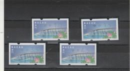 Macao Distributeurs Yvert 2 Série 4 Timbres - Fleur De Lotus - Pont - Distributori