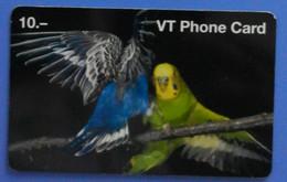 Parrot Bird Parakeet Pappagallo Oiseaux Vogel Birds Parrots VT Phone Card - Pappagalli