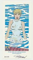Carte Jessica Blandy (bande Dessinée) - Dédicacée Par Renaud (Denauw) Et Numérotée 210/299 - Sponsor CREDIT LYONNAIS - Otros
