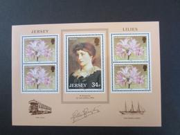 Jersey Mi: 372-373  BL 4 MNH 1986 - Jersey