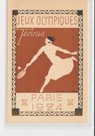 """SPORTS : JEUX OLYMPIQUES PARIS 1924 - Illustrée Par Blanche """"le Tennis"""" - (entier Postal Pasteur) - Très Bon état - Juegos Olímpicos"""