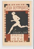 """SPORTS : JEUX OLYMPIQUES PARIS 1924 - Illustrée Par Blanche """"la Course à Pied"""" -(entier Postal Pasteur) -très Bon état - Olympic Games"""