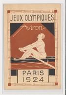 """SPORTS : JEUX OLYMPIQUES PARIS 1924 - Illustrée Par Blanche """"aviron"""" (exposition 1925) -(entier Postal Pasteur) - état - Olympic Games"""