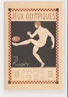 """SPORTS : JEUX OLYMPIQUES PARIS 1924 - Illustrée Par Blanche """"le Rugby"""" - (entier Postal Pasteur) - Très Bon état - Olympic Games"""