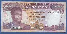 SWAZILAND - P.30c – 20 Emalangeni 2006 - UNC Prefix AW - Swaziland