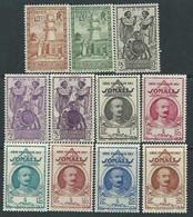 Cote Des Somalis N° 177 / 87  X : La Série Des 11 Valeurs  Trace De Charnière Sinon TB - Unused Stamps