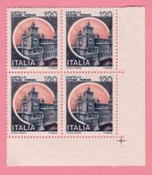 1980 ITALIA Serie Castelli D'Italia Castello Estense Ferrara Lire 120 Quartina - Nuovo MNH - 1971-80: Nieuw/plakker