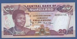 SWAZILAND - P.30a – 20 Emalangeni 2001 - UNC Prefix AO - Swaziland