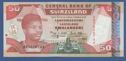 SWAZILAND - P.31 – 50 Emalangeni 2001 - UNC Prefix AB - Swaziland