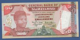 SWAZILAND - P.31 – 50 Emalangeni 2001 - UNC Prefix AD - Swaziland