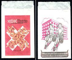 Sachet Papier Publicite Ancien -1952 Kleve XOX-Erdnussflips 25gr 25 Pfg Tütchen Reklame Werbung Advertising - Pubblicitari