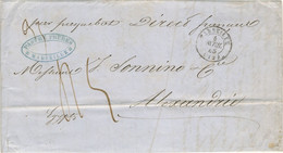 LETTRE OBLITERATION MARSEILLE 4/4/45 POUR ALEXANDRIE  PAR PAQUEBOT DIRECT FRANCAIS - 1801-1848: Vorläufer XIX