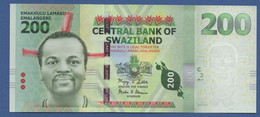 SWAZILAND - P.40a – 200 Emalangeni 2010 - UNC Prefix AA 0000246 - Swaziland