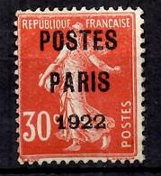 France Préoblitérés YT N° 32 Oblitéré. B/TB. A Saisir! - 1893-1947