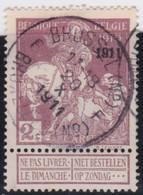 Belgie  .   OBP   .       95  Keur     .      O     .    Gebruikt  .   /   Oblitéré - 1910-1911 Caritas