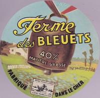 """ÉTIQUETTE DE FROMAGE - CAMEMBERT  """"FERME DES BLEUETS """" - Cheese"""