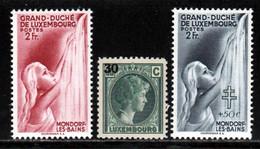 Luxembourg 1940 Yvert 322 - 323 - 333 ** TB - Unused Stamps