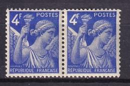 FRANCE - 4 F.  Iris Avec Crochet Au 4 Tenant à Normal TB - Abarten: 1941-44 Ungebraucht