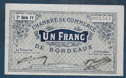 Chambre De Commerce De Bordeaux - 1 Franc  - Pirot N° 8 - Chamber Of Commerce