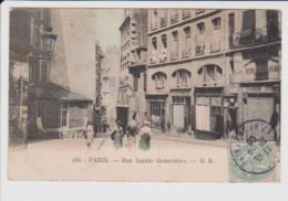 75 – PARIS – Rue Sainte Geneviève – Vue Couleur – Circulée 1906 - Altri
