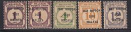 4v MH Postage Due On Malaya Postal Union, 1942 Japanese Malaya Occupation, - Japanese Occupation