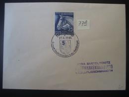 Deutsches Reich 1941-  Deutschlandpreis Der Dreijährigen MiNr. 779 - Covers & Documents