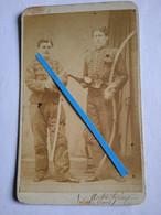 1850 1870 Harderwijk Belgique Officier De Cavalerie Sous Officier Génie Autrichien Photo Cdv Blankenburg - Oorlog, Militair