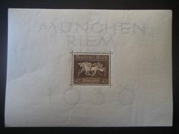 """Deutsches Reich Block 1936- Galopprennen """"Das Braune Band Von Deutschland MiNr. 621 X Falz - Covers & Documents"""