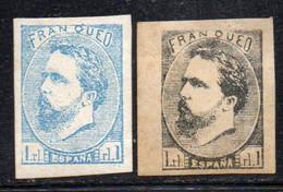 Y1911 - SPAGNA 1873 ,  Carlos Navarra  1 Real Senza Gomma : Due Valori  Stimo Ristampa - Carlisten