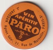 VIN APERITIF PARO / VIEUX PETIT MIROIR PUBLICITAIRE - Alcohols